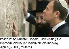 Donald Tusk ved klagemuren